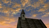 Church And Sky 1 Ntsc stock footage