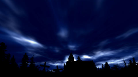 church at night Stock Video Footage