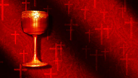 cup and red crosses Stock Video Footage