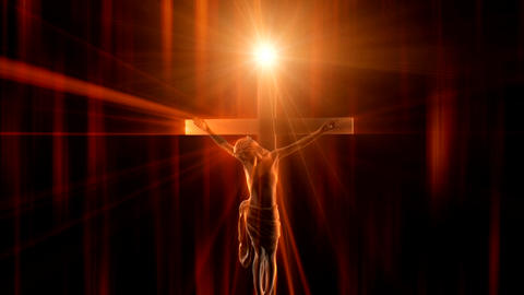 jesus on the cross 2 Stock Video Footage