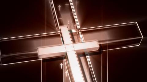 multi crucifix Stock Video Footage