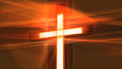 orange crucifix Stock Video Footage