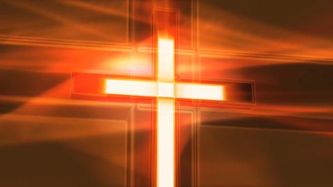 orange crucifix Stock Video Footage