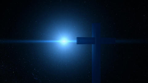 space cross Stock Video Footage