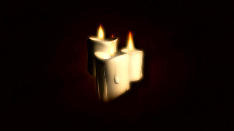 three candles Animation