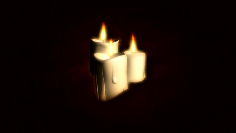 three candles Stock Video Footage