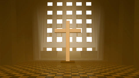 wooden cross Animation
