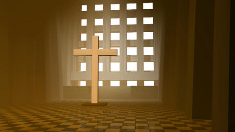 wooden cross Stock Video Footage