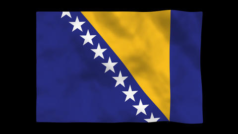 Flag A101 BIH Bosnia and Herzegovina Animation
