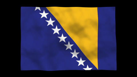 Flag A101 BIH Bosnia and Herzegovina Stock Video Footage