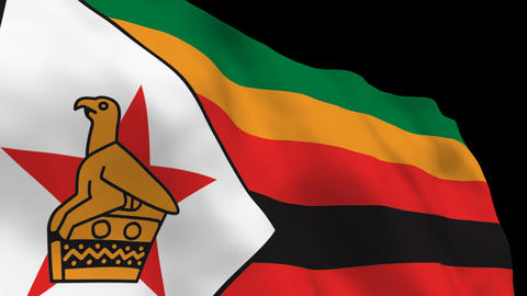 Flag B117 ZWE Zimbabwe Animation