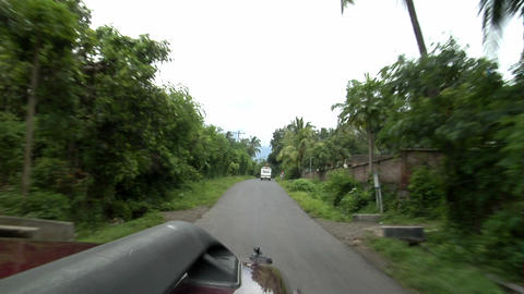 indonesian county drive Stock Video Footage