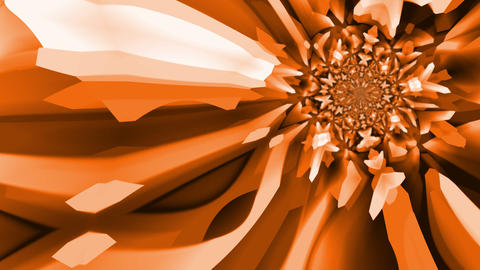 Kaleidoscopic orange and brown colours Stock Video Footage