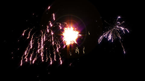 Loopable firework background Stock Video Footage