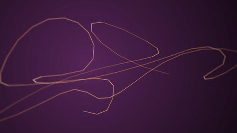 Fast moving particle line on purple background Animation