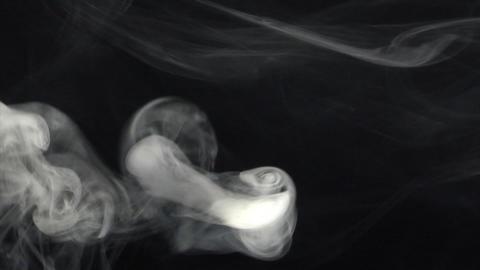 Smoke series: swirl around Stock Video Footage