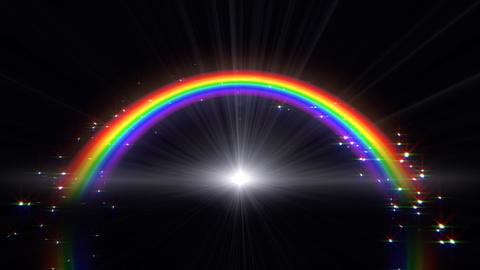 Rainbow B Black Stock Video Footage