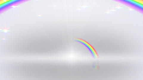 Rainbow B White Stock Video Footage