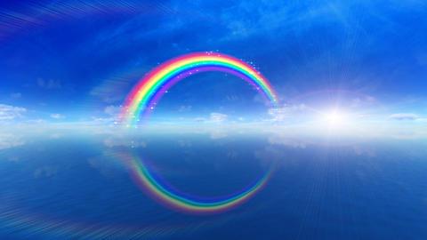 Rainbow BB Sea Stock Video Footage
