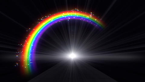 Rainbow C Black front Stock Video Footage
