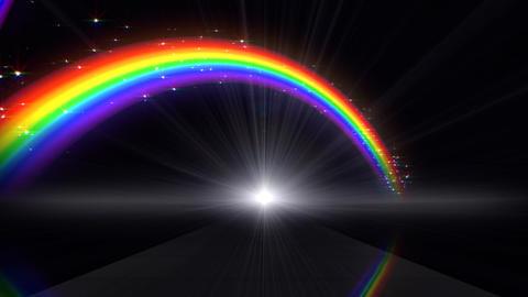 Rainbow D Black Stock Video Footage