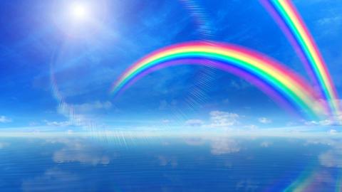 Rainbow D Sea Stock Video Footage