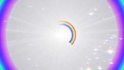 Rainbow F White Stock Video Footage