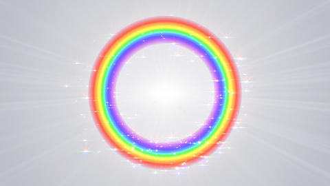 Rainbow F White Stock Video Footage