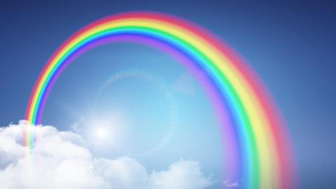 Rainbow Sky A2 Stock Video Footage