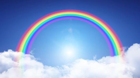 Rainbow Sky B Stock Video Footage