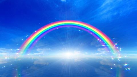Rainbow B Sea Stock Video Footage