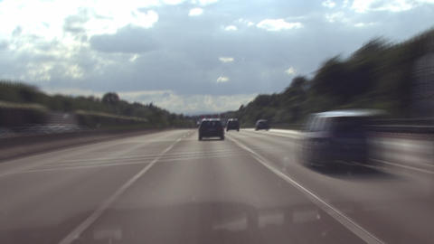 german Autobahn 01 Stock Video Footage