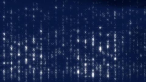 Blue Matrix Background HD1080 25p Stock Video Footage