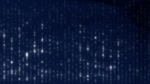 Blue Matrix Background HD1080 25p Animation