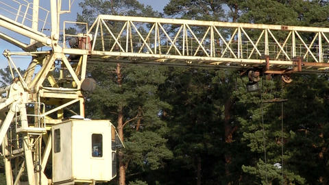 rail crane turns Stock Video Footage