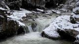 Cold Mountain River Cascade stock footage