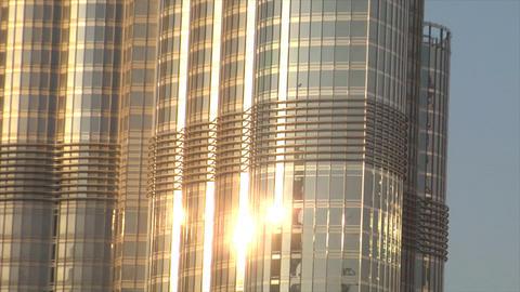 Burj Dubai slow zoom stars Footage