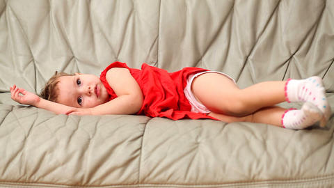 baby on sofa Stock Video Footage