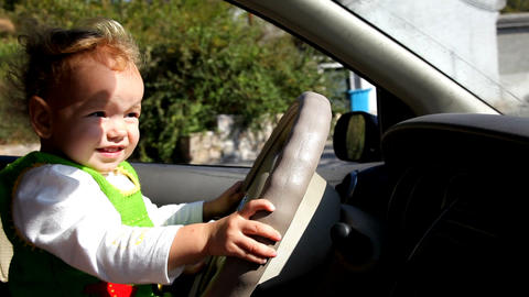 Baby Driving stock footage