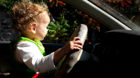 baby driving Stock Video Footage