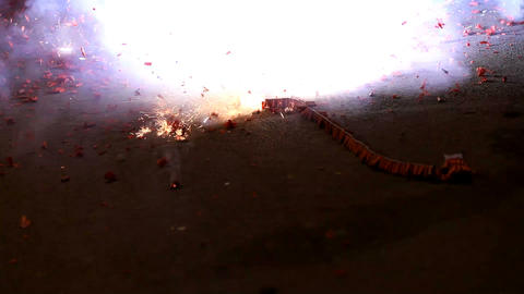 Firecrackers Stock Video Footage
