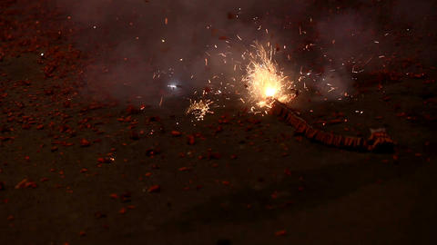 Firecrackers Stock Video Footage