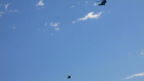 helicopters and choppers parade Footage