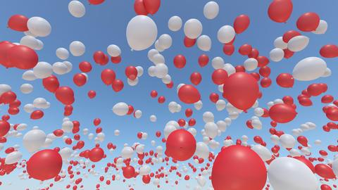 Balloon 2 Aa Rainbow Stock Video Footage