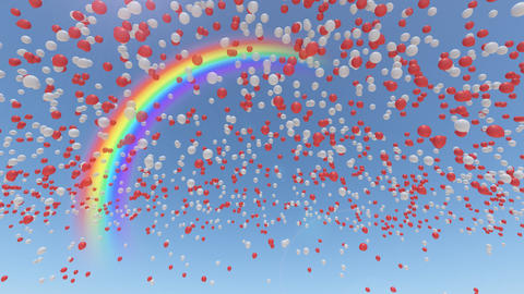 Balloon 2 Aa Rainbow Stock Video Footage