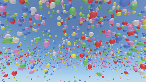 Balloon Aa Rainbow Stock Video Footage