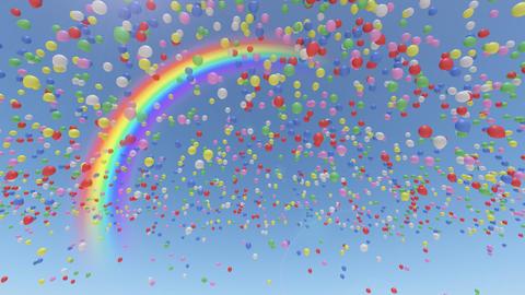 Balloon Aa Rainbow CG動画