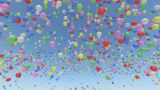 Balloon Aa Rainbow stock footage