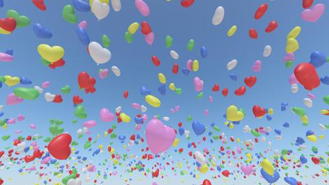 Balloon H Aa Rainbow Stock Video Footage