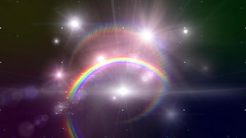 Rainbow B Black Glitter Stock Video Footage